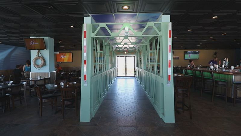 New swing bridge replica built into Gallagher's Sports Bar and Grill in Surf City. (Source: WECT)