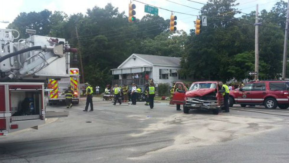 An accident near 10th and Wooster Streets Tuesday afternoon sent two people to the hospital....