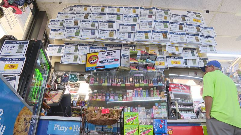 The data shows Calabash Food & Fuel sold the most scratch-off tickets that won $600 or more in...