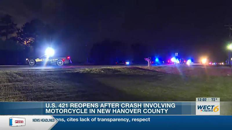 Emergency crews respond to wreck involving motorcycle on U.S. 421
