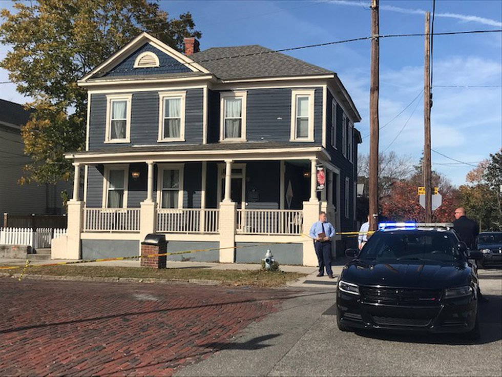 A home at 617 Red Cross Street was struck by gunfire, leaving several shell casings on the...