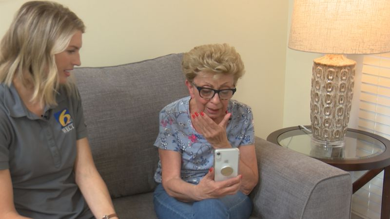Vicky Zelenka is reconnected with the contractor who found her husband's ashes after Hurricane...