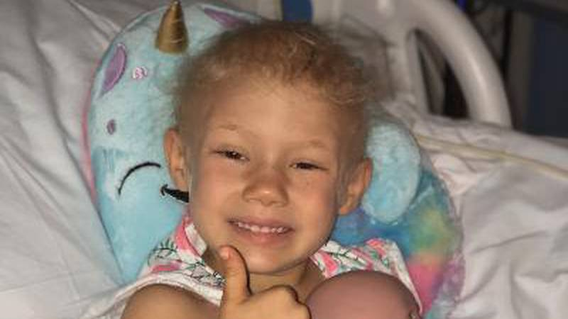 Community rallies around a 4-year-old and her family during their fight against cancer