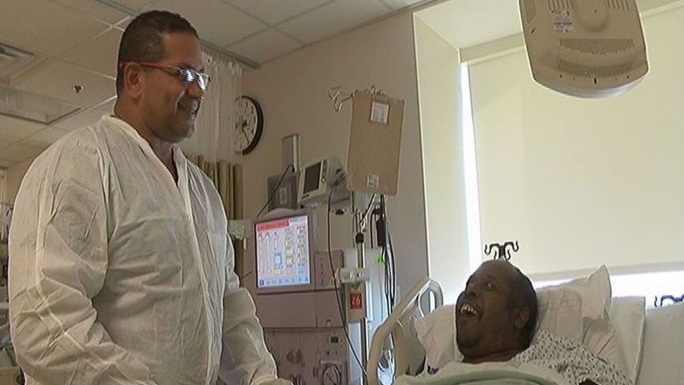 Celebrities mingle with patients at The Willie 'Pops' Stargell Dialysis Center. (Source: WECT)