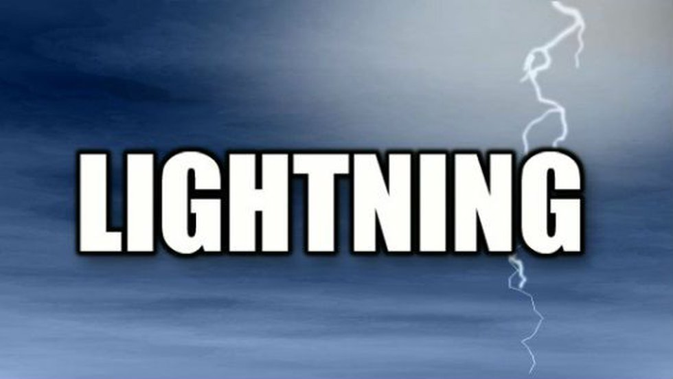 Officials say lightning struck the roof of the church shortly before noon on Sunday during the...