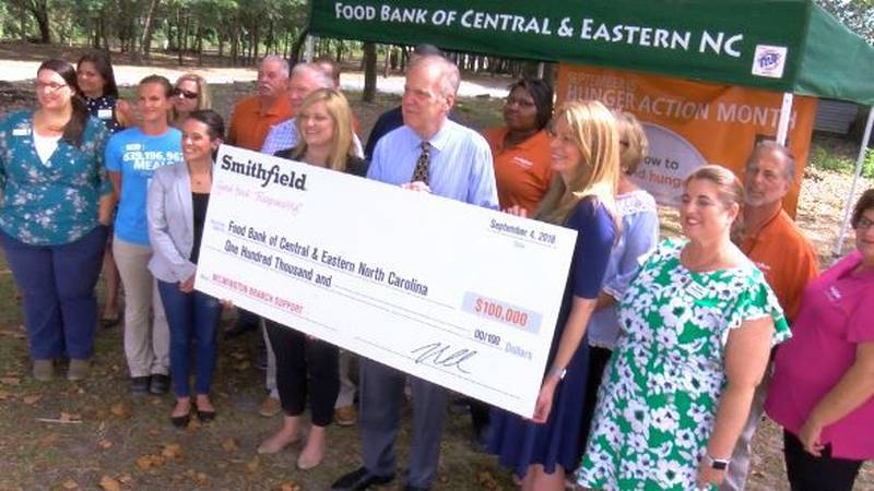 The Wilmington branch of the Food Bank of Central and Eastern North Carolina got one of its...