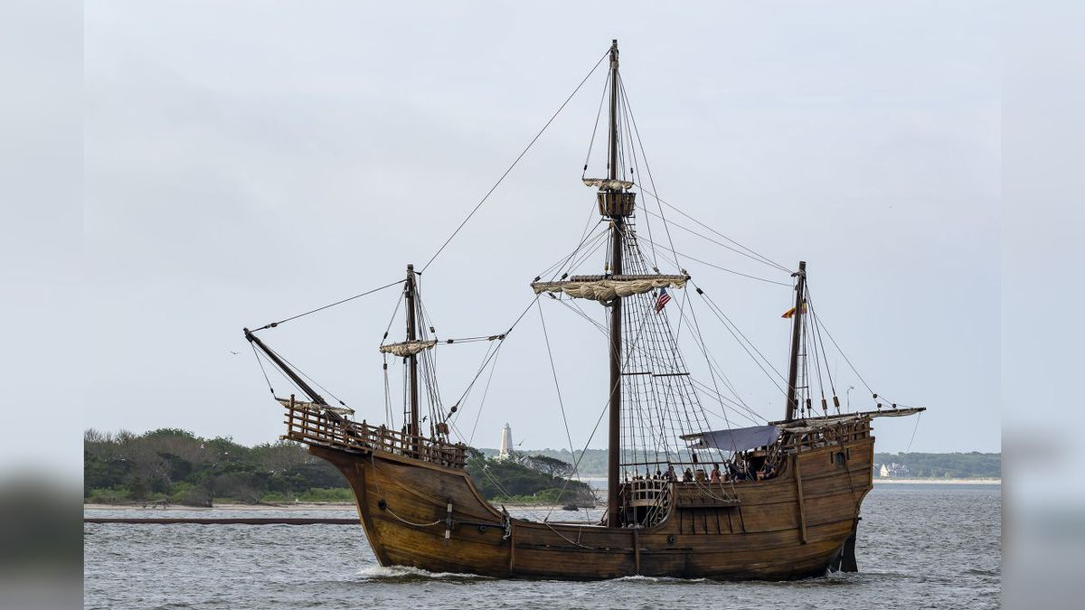 Santa Maria replica spotted in Oak Island before docking in Wilmington