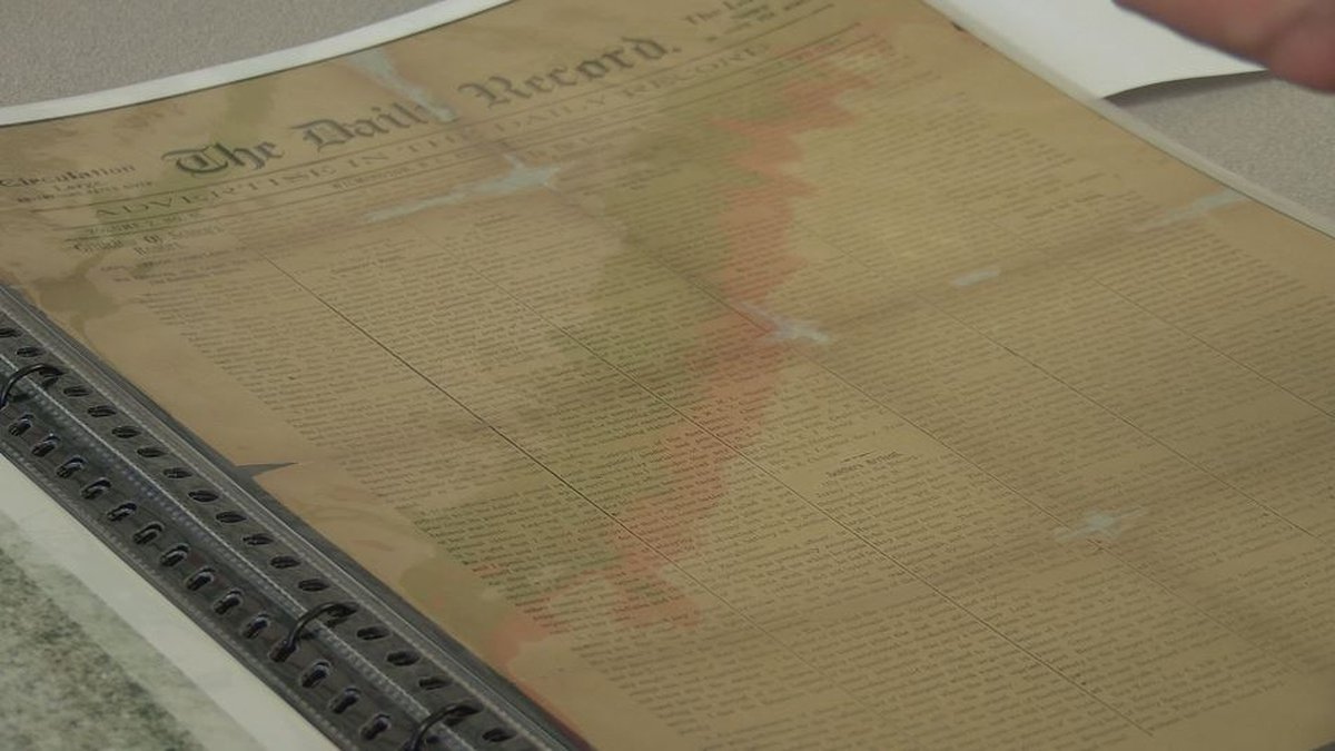 7 copies of the historical newspaper found