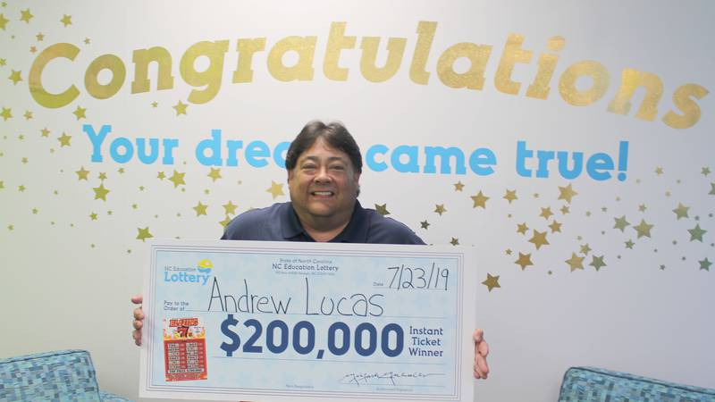 Andrew Lucas of Wilmington said the first thing he's going to do after winning a $200,000...