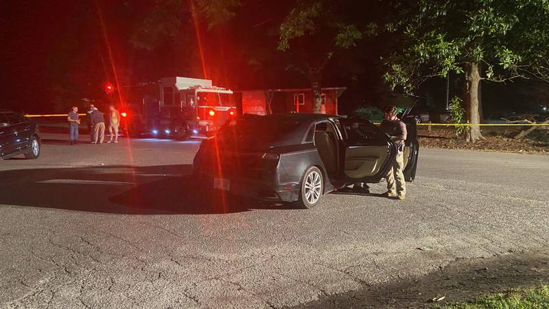 Officers from several law enforcement agencies are on the scene investigating a shooting at an...