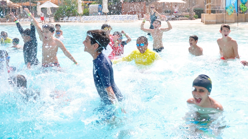 Several organizations have collaborated to provide numerous pools for the World's Largest Swim...