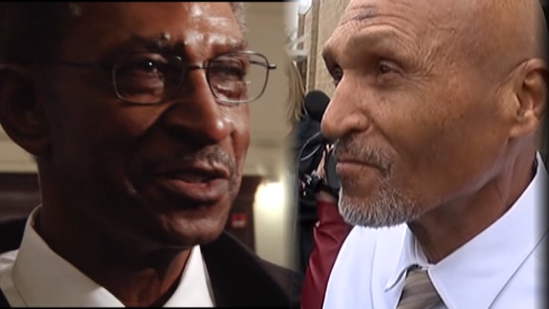 Willie Grimes, left, and Joseph Sledge, right, both spent decades in prison after faulty...