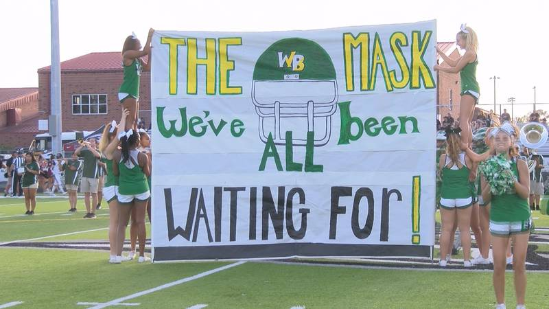 The West Brunswick Trojans prepare for their game against Carolina Forest