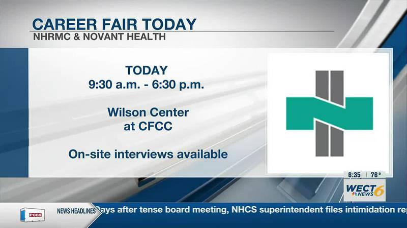 Novant Health and NHRMC host Career Fair today at the Wilson Center