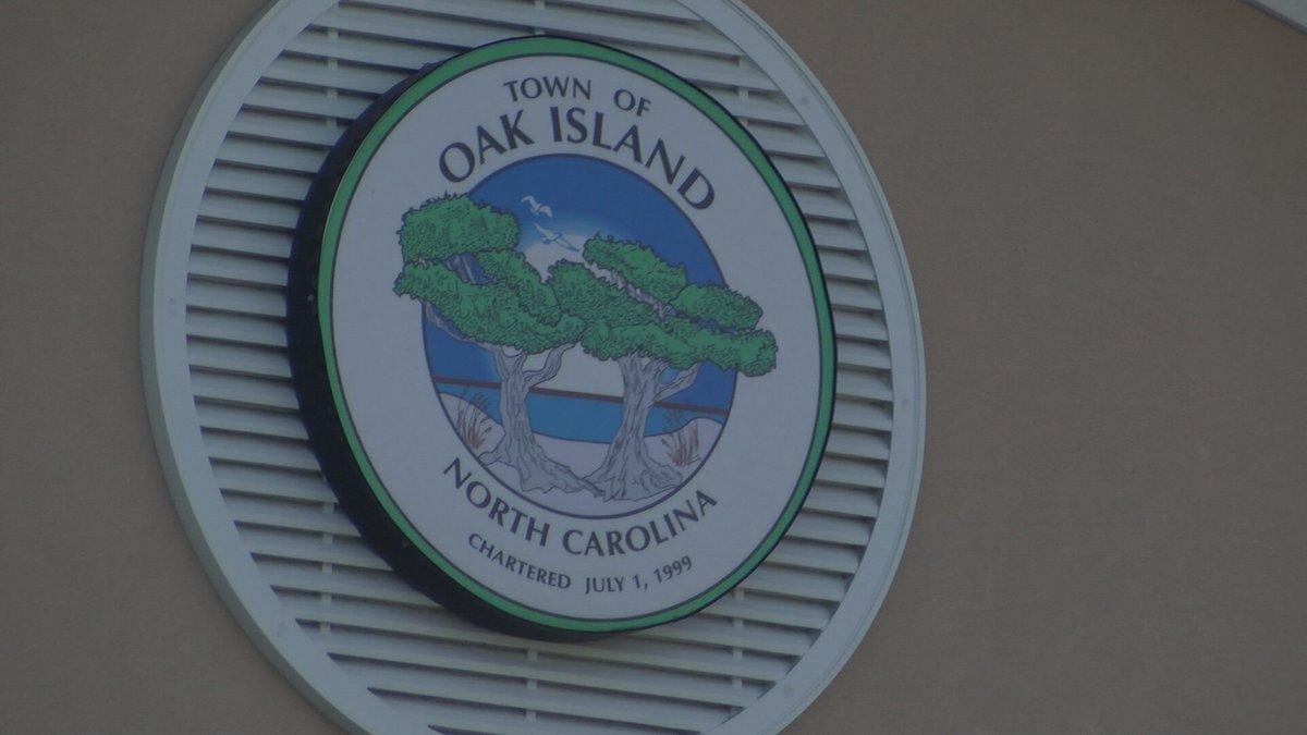 The town of Oak Island