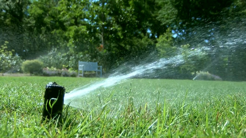 Irrigation system on lawn at the Arboretum (Source: WECT)