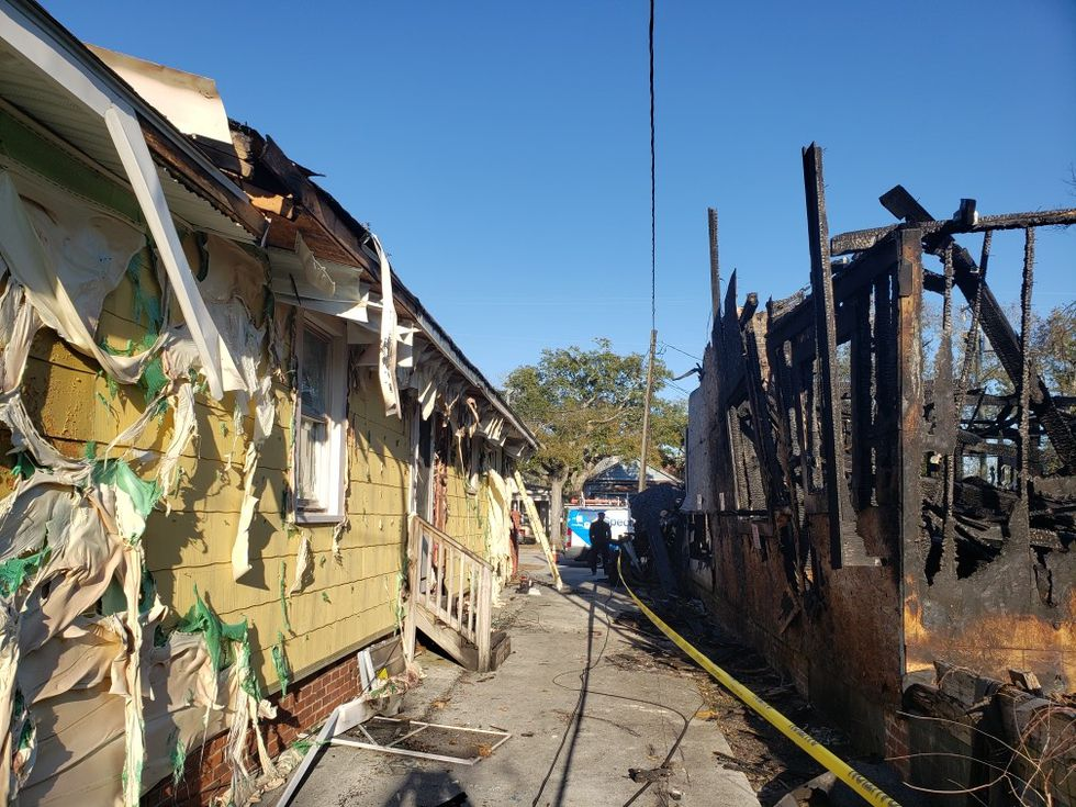 A massive fire destroyed a home at 5th Avenue and Meares Street in Wilmington Friday night.