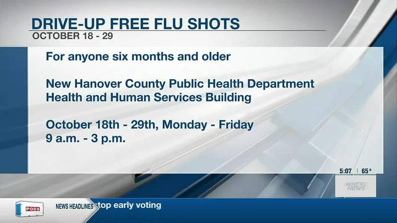 NHC Public Health offers free drive-up flu shots