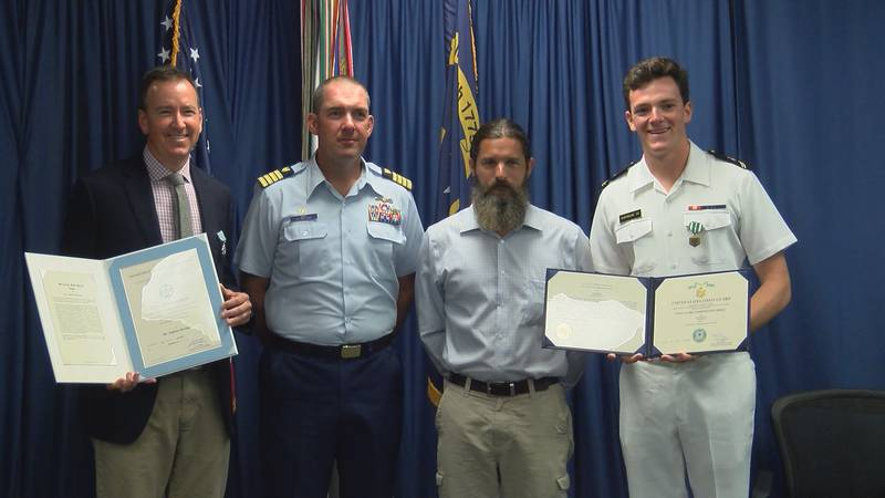 Jack and Andrew Sherman were awarded by the Coast Guard