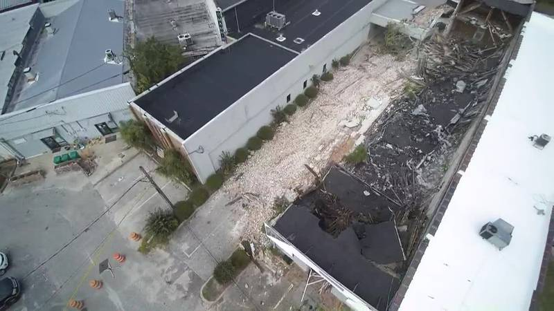 SKY TRACKER: Building collapse in Whiteville