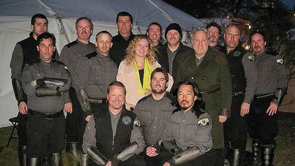 Members of 'Sgt. Sam's Militia of Background Artists' (Source: David Pascua)