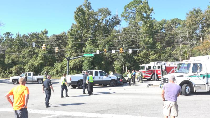 Crews respond to the scene on Independence Blvd. Saturday