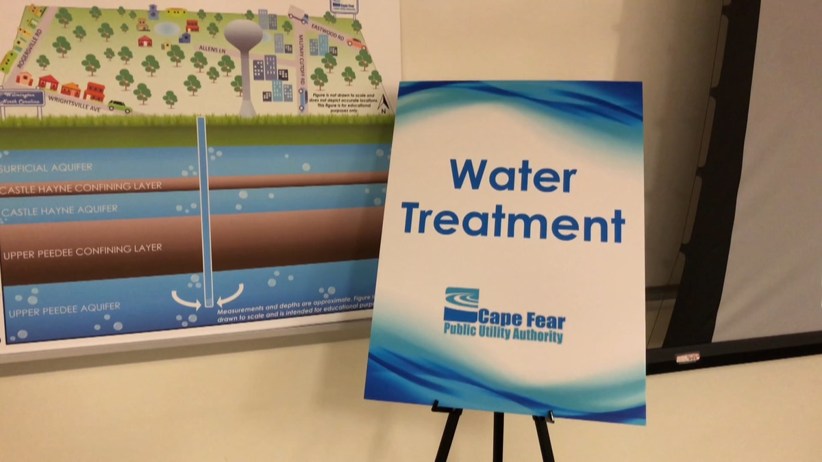 Jim Flechtner, CFPUA Executive Director, led the information session about PFAS and the Sweeney...