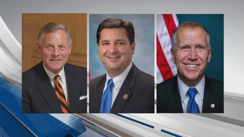 Members of Congress who represent southeastern North Carolina are, from left, Sen. Richard Burr...