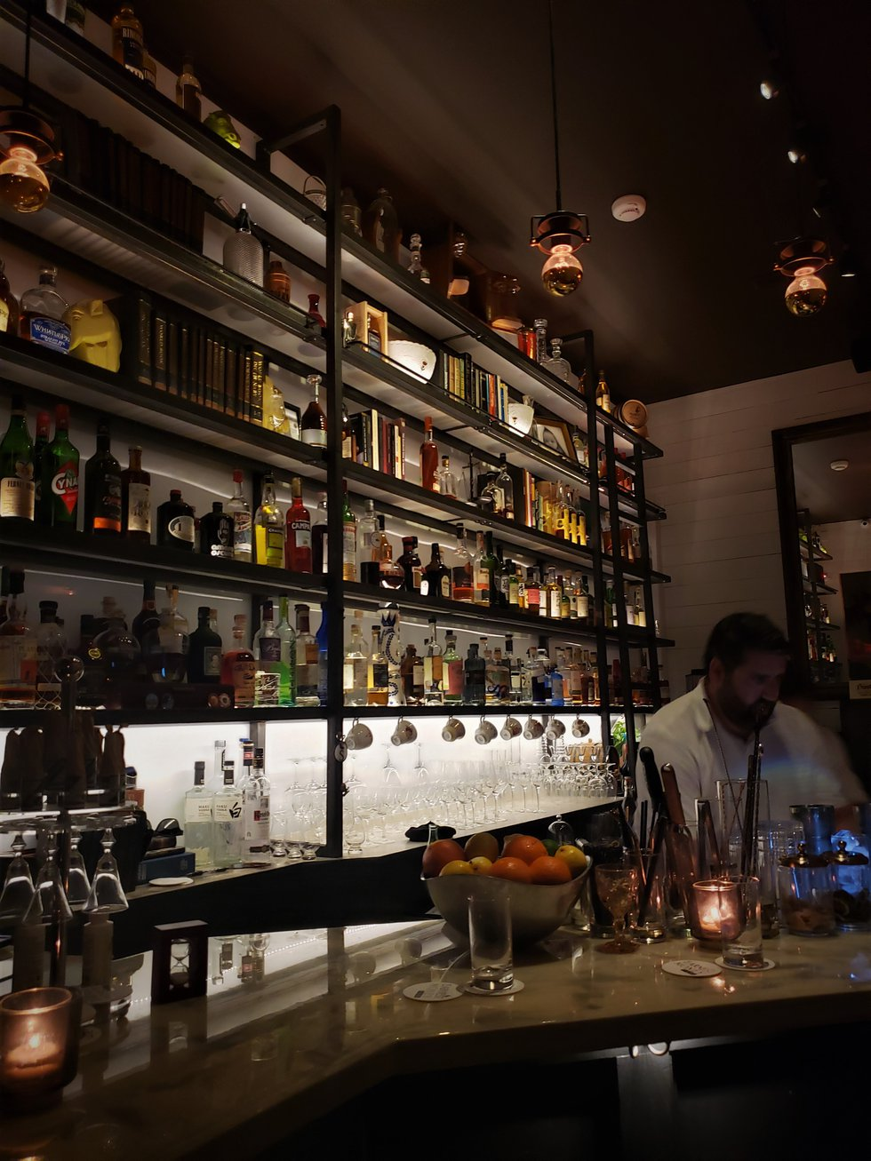 Bartender Jeff Taylor is a master at his craft, and always willing to accommodate any requests...