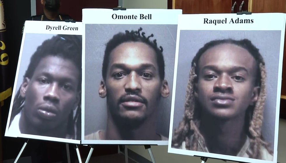 Dyrell Green, Omonte Bell and Raquel Adams are charged with two counts of murder, one count of...