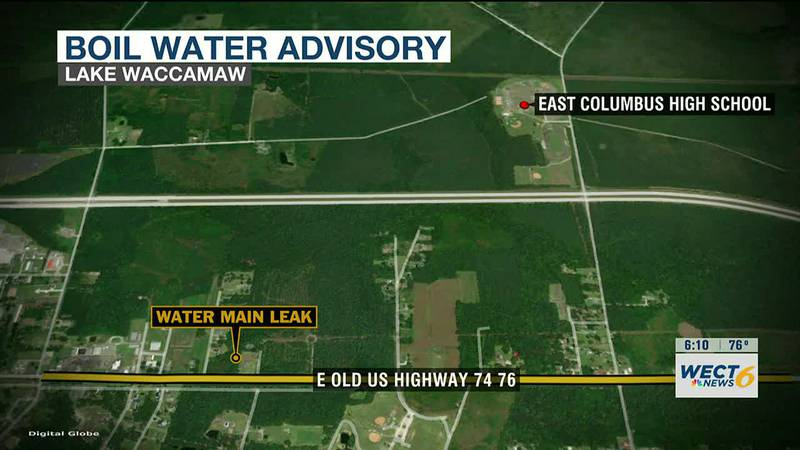 Boil advisory issued for some in Lake Waccamaw after contractors damage water main
