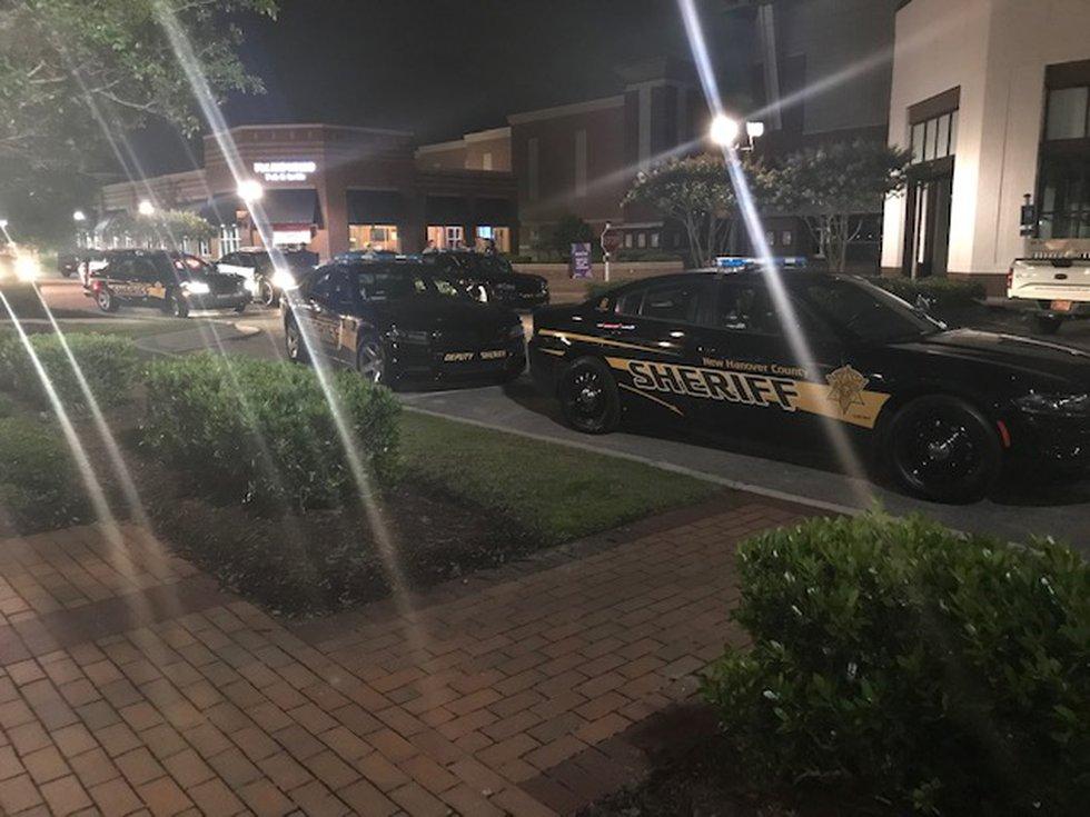 Heavy law enforcement presence at Mayfaire.