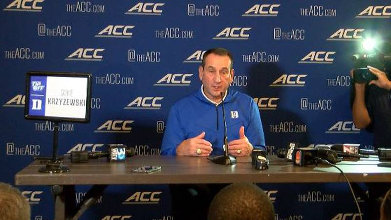 It was the last ACC Basketball Tip Off for Duke coach Mike Krzyzewski, but retirement is not on...