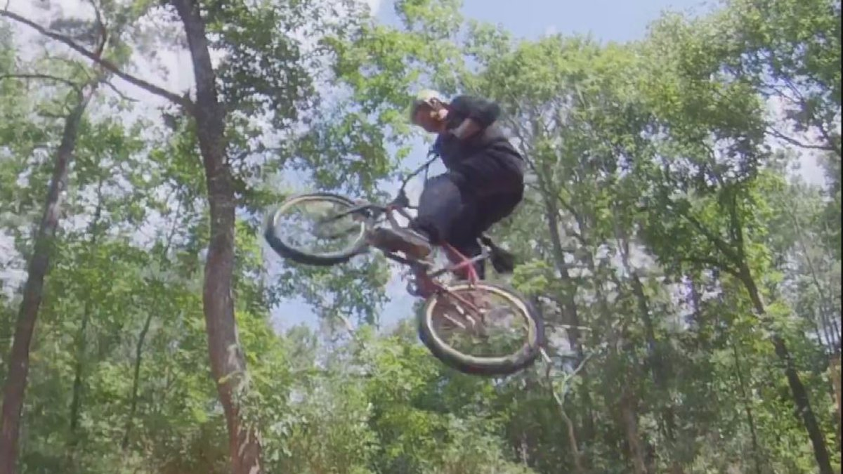 Ryan Nyquist, a three-time BMX World Champion and 16-time X Games medalist, performs a trick at...