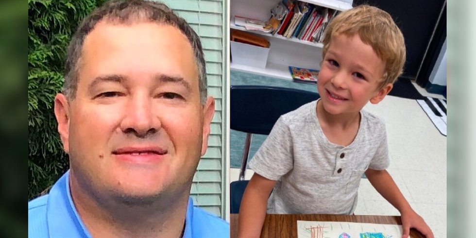 Left: 44-year-old Adrian Paul Vancleave; Right: 4-year-old Lincoln Paul Vancleave