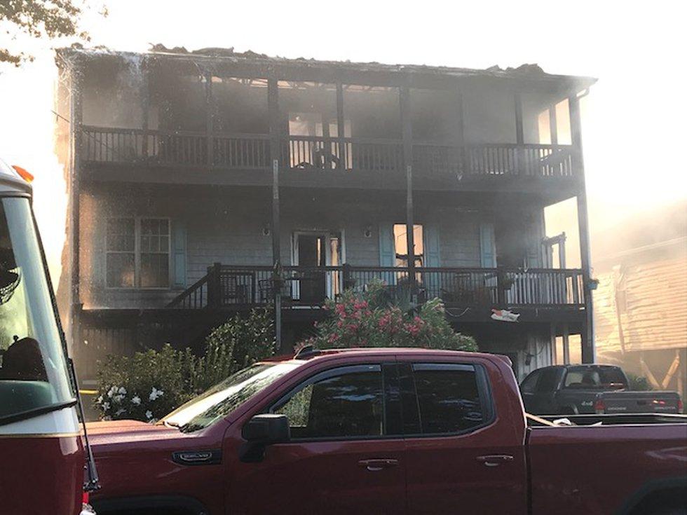 Oak Island house fire