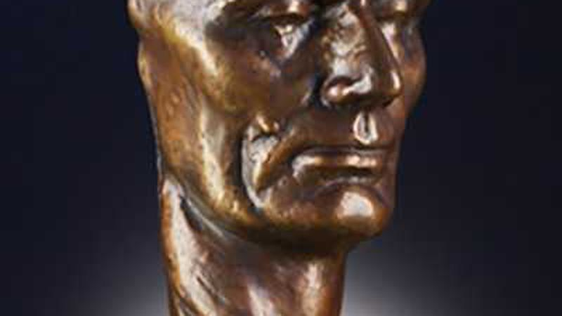 'The Face of Lincoln' A bronze mask by the renowned American Sculptor Robert Merrell Gage on...