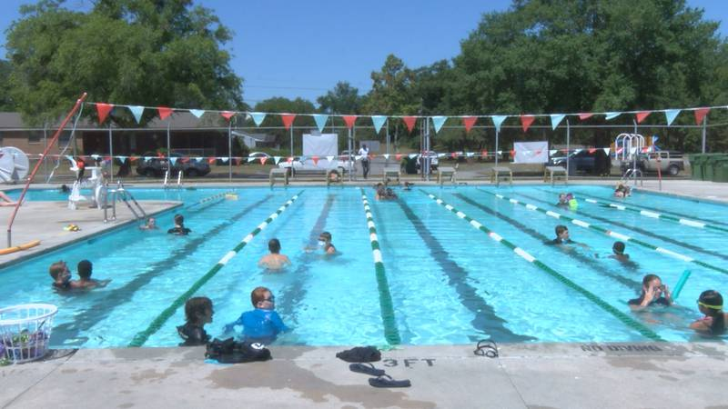 Swim lessons at the Earl Jackson Pool in Wilmington