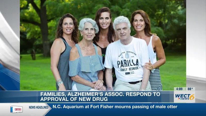 Alyssa Kelly said while the approval of a new drug for Alzheimer's disease is too late for her...