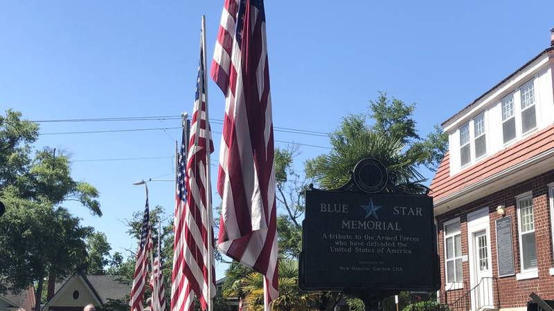 Blue Star Memorial Marker at Wilmington National Cemetery