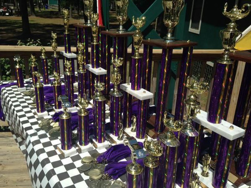 The winners get to take home these large trophies. (Source: WECT)