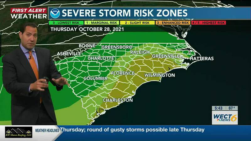 Your First Alert Forecast from early Tue., Oct. 26, 2021...