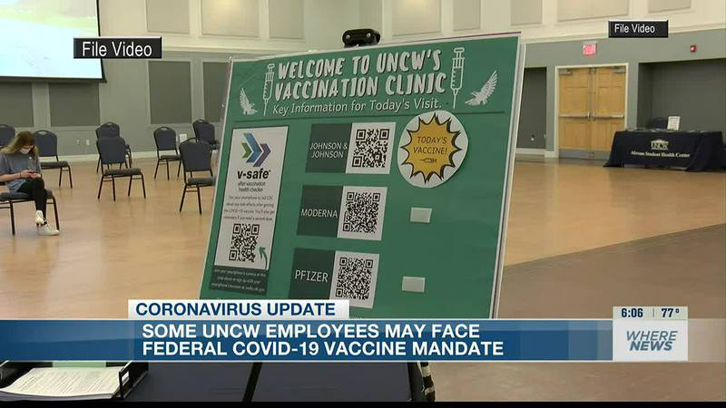 Federal vaccine mandate could soon impact UNC Wilmington