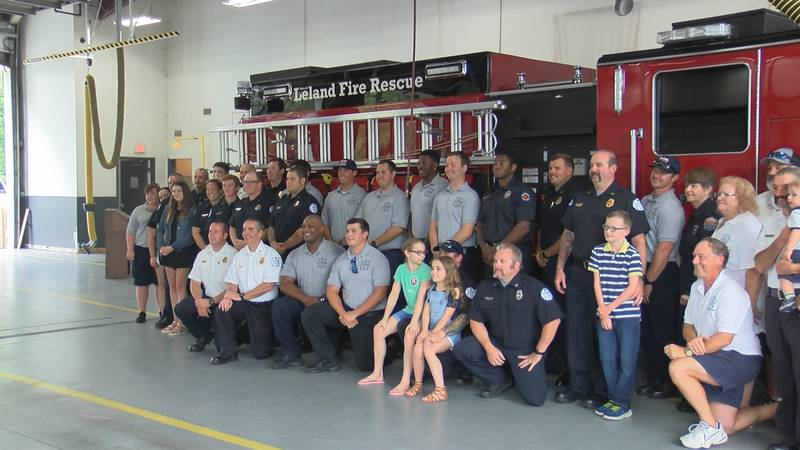 LELAND, N.C. (WECT) - Leland Fire and Rescue welcomed a new engine to the team on Sunday.