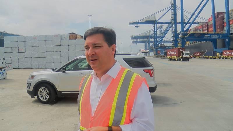 David Rouzer at the Port