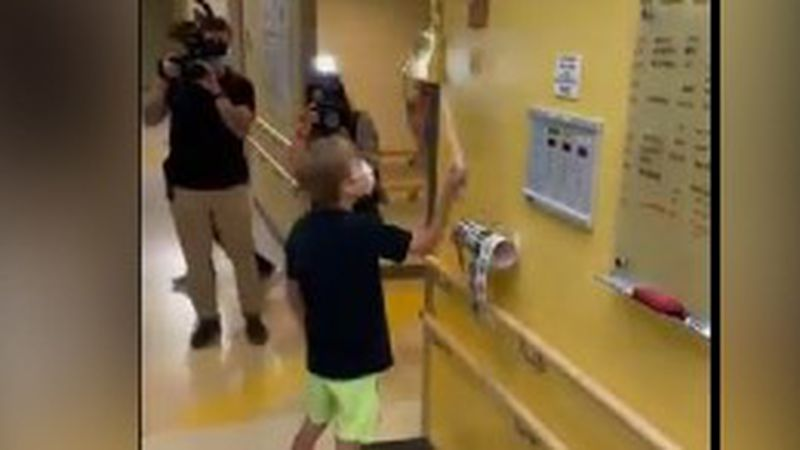 'Inspiration to us all': T.J., son of former Panther Greg Olsen, rings bell after receiving...