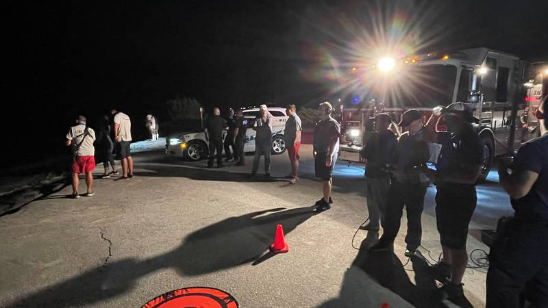 Multiple first responder agencies worked together in Oak Island on Thursday night to partake in...