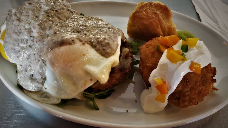 The Cape Fear offers plenty of brunch options, with menu items suitable for every taste...like...