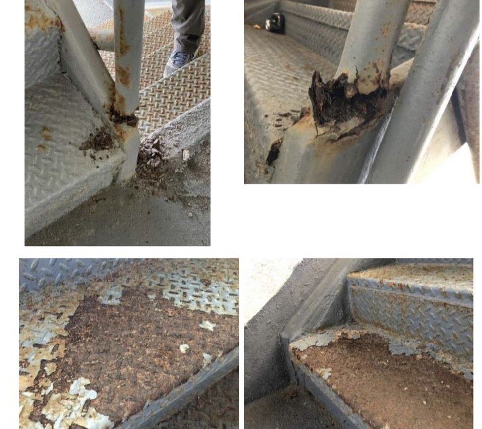 Pelican Watch stairway corrosion.