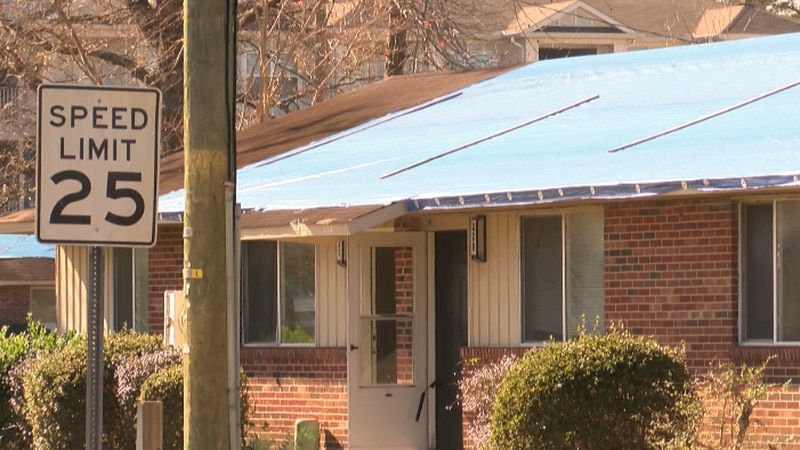 People living in Market North Apartments say no work has been done to repair damage from...